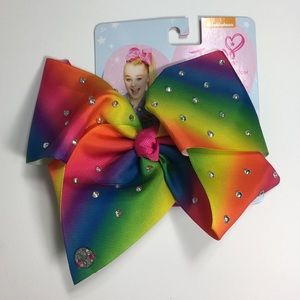 JoJo Siwa Rainbow Hair Bow Clear Rhinestones